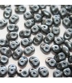 Superduo Beads Pastel Dark Grey/Hematite 5x2,5mm - 10gr