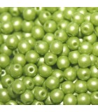 Tondi Vetro di Boemia Powdery Lime 3mm - 1200pz