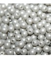 Czech Glass Round Beads Powdery Pastel Grey 3mm -1200pcs