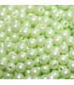 Czech Glass Round Beads Powdery Pastel Lime 3mm -1200pcs