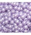 Czech Glass Round Beads Powdery Pastel Purple 3mm -1200pcs