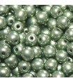Czech Glass Round Beads Saturated Metallic Greenery 4mm -1200pcs