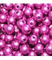 Czech Glass Round Beads Saturated Metallic Pink Yarrow 4mm -1200pcs