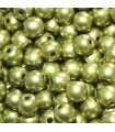 Czech Glass Round Beads Saturated Metallic Primrose Yellow 4mm -1200pcs