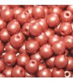 Czech Glass Round Beads Powdery Copper 4mm -1200pcs