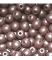Czech Glass Round Beads Powdery Brown 4mm -1200pcs