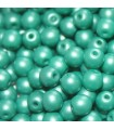 Czech Glass Round Beads Powdery Teal 4mm -1200pcs