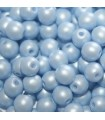 Czech Glass Round Beads Powdery Pastel Blue 4mm -1200pcs