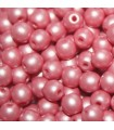 Czech Glass Round Beads Powdery Pastel Coral 4mm -1200pcs