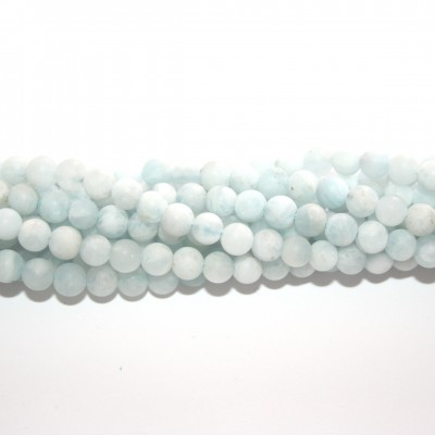 Aquamarine Tondo Satinato 5mm - 74pz