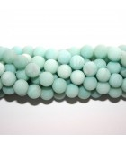 Amazonite Smooth Round Frosted 8mm - 48pcs