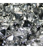 Czech Pressed Bicones Crystal Labrador 6mm - 75pcs