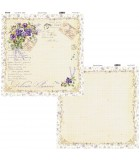 Patterned Paper Delicate Pansies To-Do - 30x30cm - 1sheet