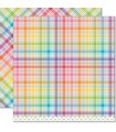 Gummy Bears - Perfectly Plaid Rainbow Collection - Lawn Fawn - 30x30cm - 1sheet