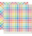 Candy Buttons - Perfectly Plaid Rainbow Collection - Lawn Fawn - 30x30cm - 1pz