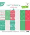 Knit Picky Collection Pack - Lawn Fawn - 30x30cm - 10 sheets