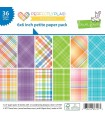 Perfectly Plaid Rainbow Collection Petite Pack - Lawn Fawn - 15x15cm - 36pz