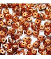 Superduo Beads Jet Full Copper Gold  5x2,5mm - 10gr