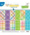 Perfectly Plaid Rainbow Collection Pack - Lawn Fawn - 30x30cm - 12 sheets