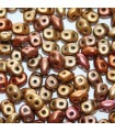 Superduo Beads Bronze Rainbow A 5x2,5mm - 50gr