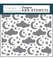 Stencil - Sleep Tight (Clouds Stars and Moon) - Echo Park Paper Co. - 15x15cm