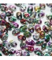Superduo Beads Coated-Crystal 5x2,5mm - 10gr