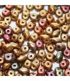 Superduo Beads Bronze Rainbow B 5x2,5mm - 10gr