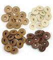 Wide Eyelets Brown for Crop-A-Dile - 0,5cm Hole - We R Memory Keepers - 40pcs