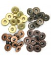 Wide Eyelets Copper Warm Metal for Crop-A-Dile - 0,5cm Hole - We R Memory Keepers - 40pcs