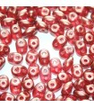 Superduo Beads Halo-Cardinal 5x2,5mm - 10gr
