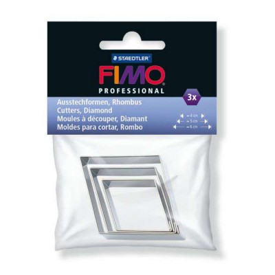Stampi in Metallo per Fimo - Rombo - Fimo Accessories - Staedtler - 3pz