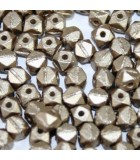 Perline Vintage Cut Nugget Metallic Velvet Light Brown 4mm - 50pz