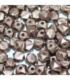 Perline Vintage Cut Nugget Metallic Velvet Brown 4mm - 50pz