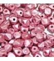 Perline Vintage Cut Nugget Metallic Velvet Rose 4mm - 50pz