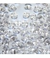 Superduo Beads White Lined-Crystal 5x2,5mm - 10gr