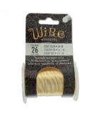 Lacquered Tarnish Resistant Wire Gold 26ga - 34yd