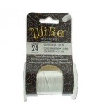 Lacquered Tarnish Resistant Wire Silver 24ga - 30yd