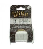 Lacquered Tarnish Resistant Wire Silver 22ga - 20yd