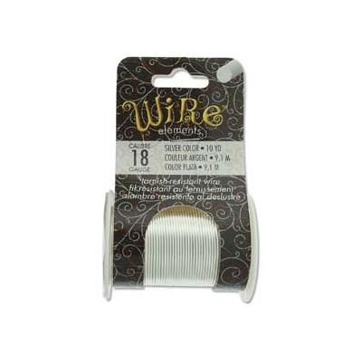 Lacquered Tarnish Resistant Wire Silver 18ga - 10yd