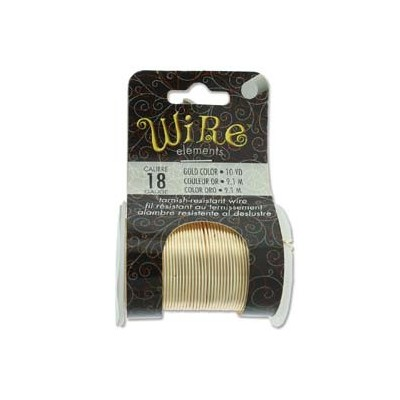 Lacquered Tarnish Resistant Wire Gold 18ga - 10yd