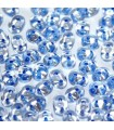 Superduo Beads Blue Lined-Crystal 5x2,5mm - 10gr