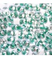 Perline Superduo Green Lined-Crystal 5x2,5mm - 10gr
