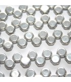 Perline HoneyComb Silver 6mm - 30pz