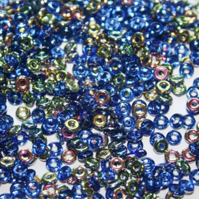 Perline O-Beads Vitrail Sapphire 1x3,8mm - 5gr