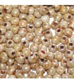 Czech Glass Round Beads - Opaque Luster Picasso 2mm -150pcs