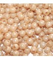 Czech Glass Round Beads - Luster Opaque Champagne 2mm -1200pcs