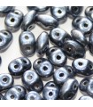 Superduo Beads Metalust Steel Blue 5x2,5mm - 10gr