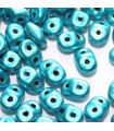Superduo Beads Metalust Turquoise 5x2,5mm - 10gr