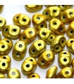 Perline Superduo 5x2,5mm Metalust Yellow Gold - 10gr