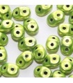 Superduo Beads Metalust Electric Green 5x2,5mm - 10gr